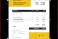 9 Design Invoice Template Illustrator Grittrader inside proportions 910 X 910