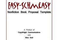Easy Schmeasy Book Proposal Template Write Nonfiction Now in proportions 1375 X 1800