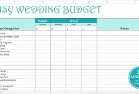 Easy Wedding Budget Excel Template Savvy Spreadsheets throughout size 1400 X 758