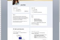 Facebook Timeline Resume Template Word Free Rogier Trimpe throughout sizing 1172 X 1471