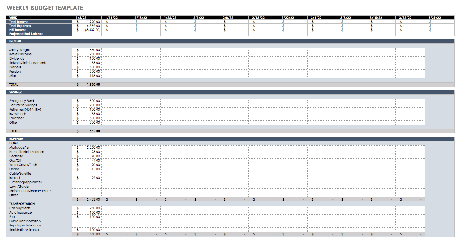 Free Budget Templates In Excel For Any Use with dimensions 1490 X 767