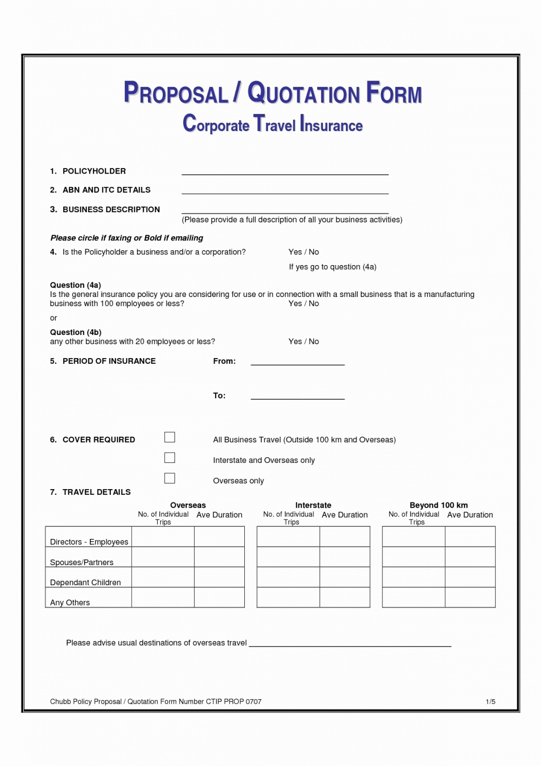 Health Insurance Proposal Template • Business Template Ideas