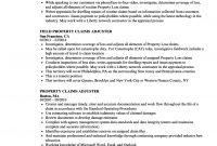 Property Claims Adjuster Resume Samples Velvet Jobs with dimensions 860 X 1240