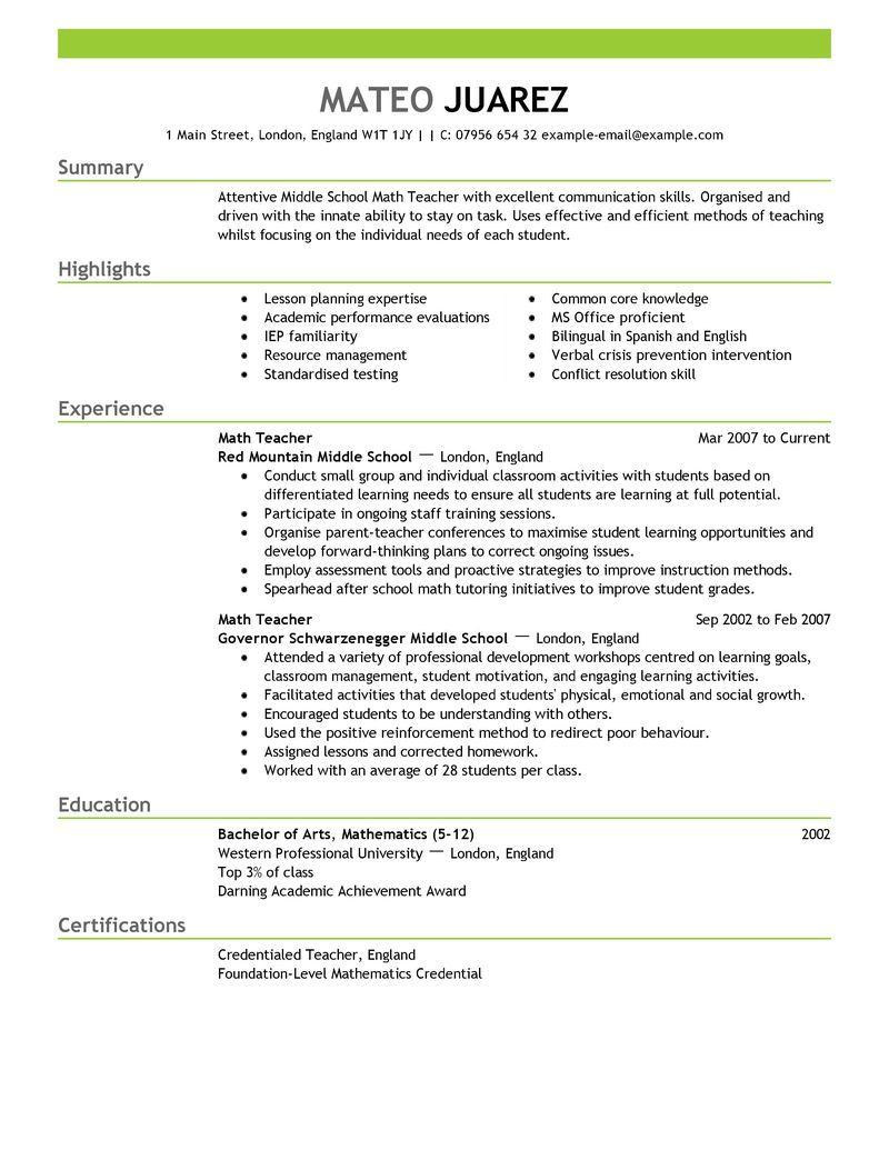resume builder template for teachers • business template ideas