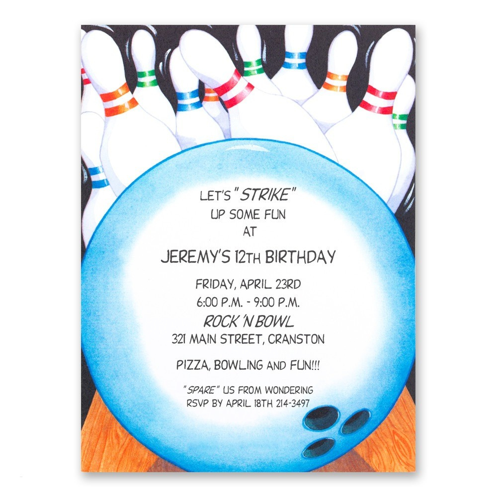 010 Bowling Party Invitationmplate Free Birthday Invitations within proportions 1000 X 1000