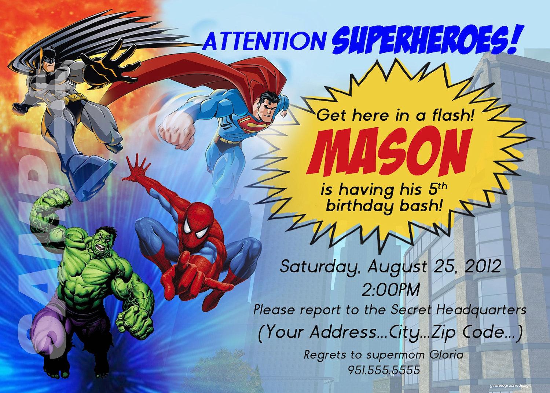014 Superhero Invitation Template Free Ideas Birthday Party inside proportions 1500 X 1071