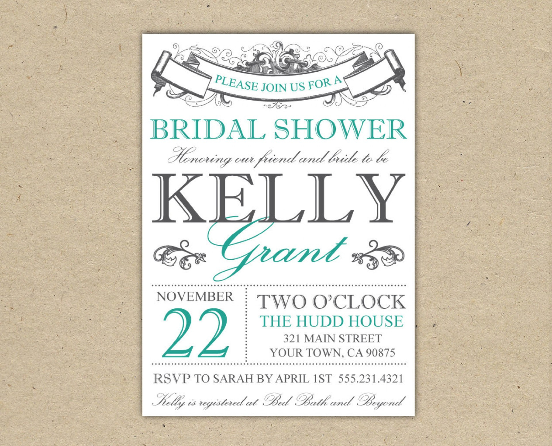 015 Template Ideas Free Bridal Shower Invitation Templates regarding size 1920 X 1549