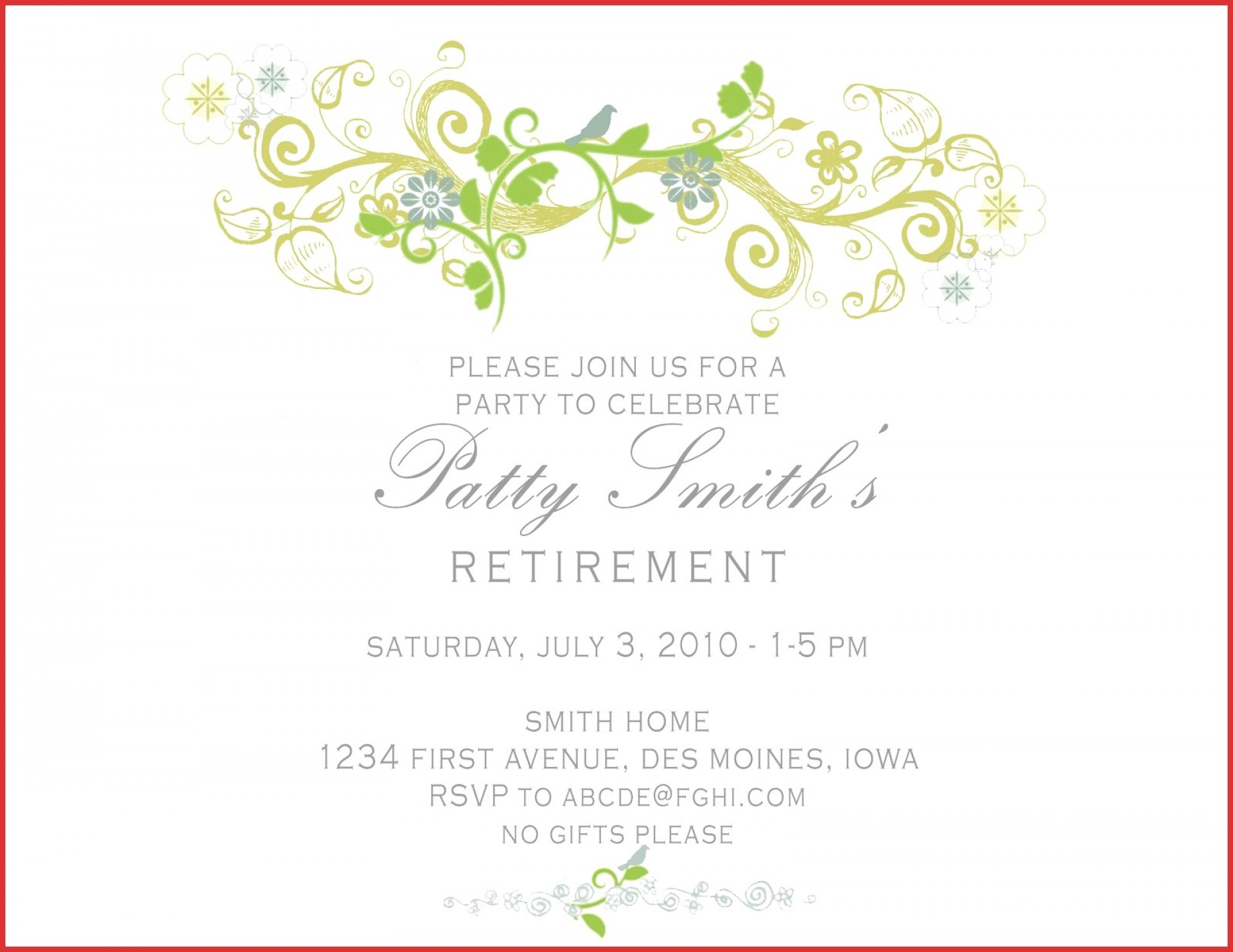 018 Template Ideas T Breathtaking Retirement Party Invitation pertaining to proportions 1920 X 1483
