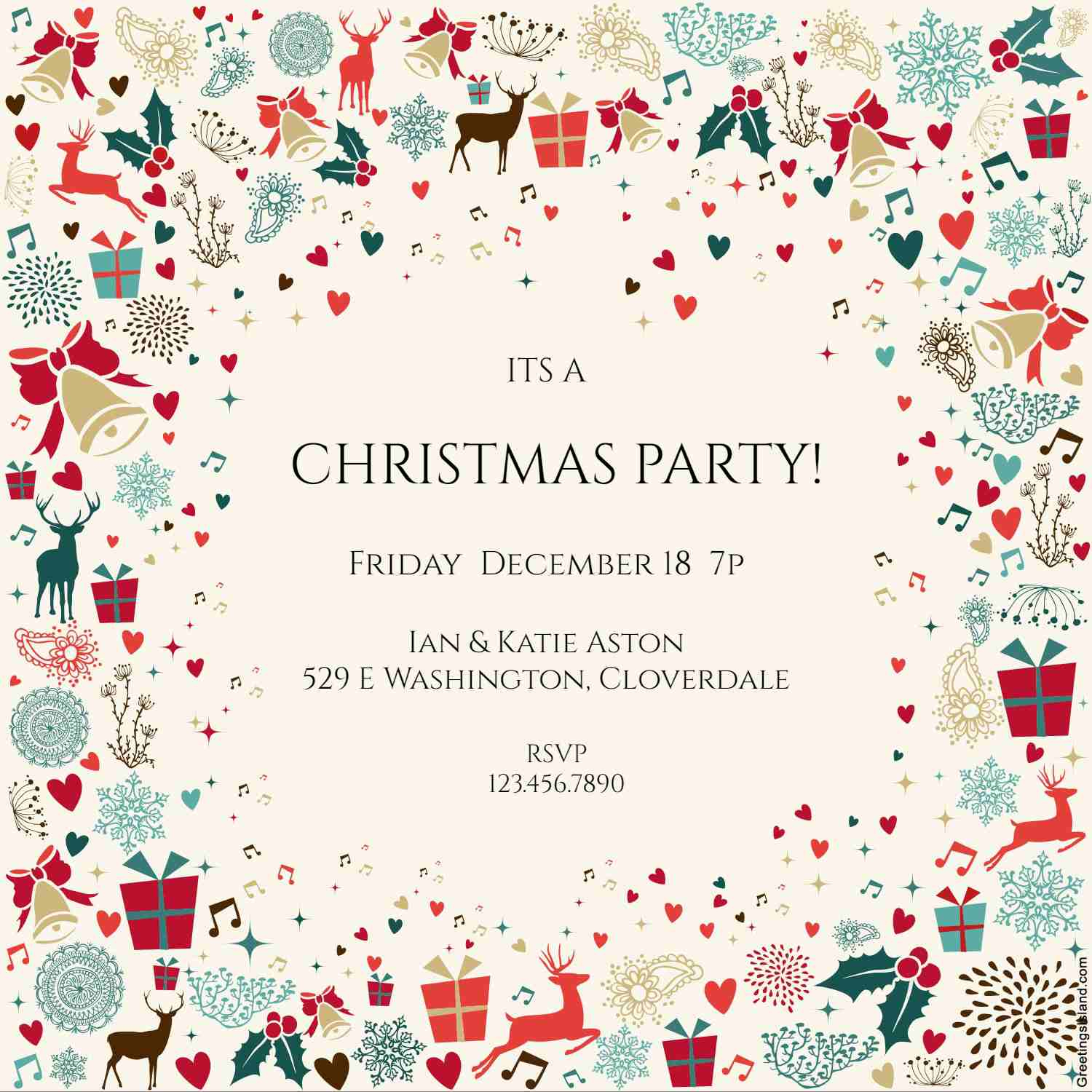 10 Free Christmas Party Invitations That You Can Print with regard to dimensions 1500 X 1500