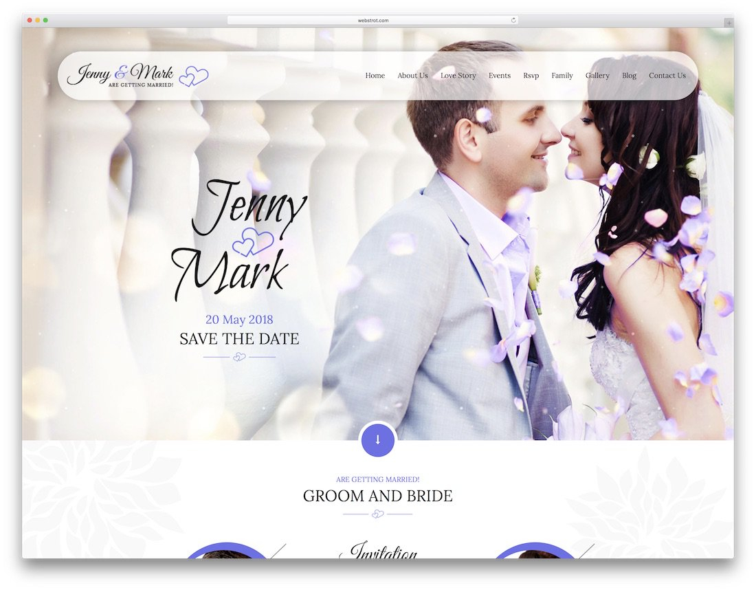 16 Beautiful Html Wedding Website Templates 2019 Colorlib intended for sizing 1100 X 858