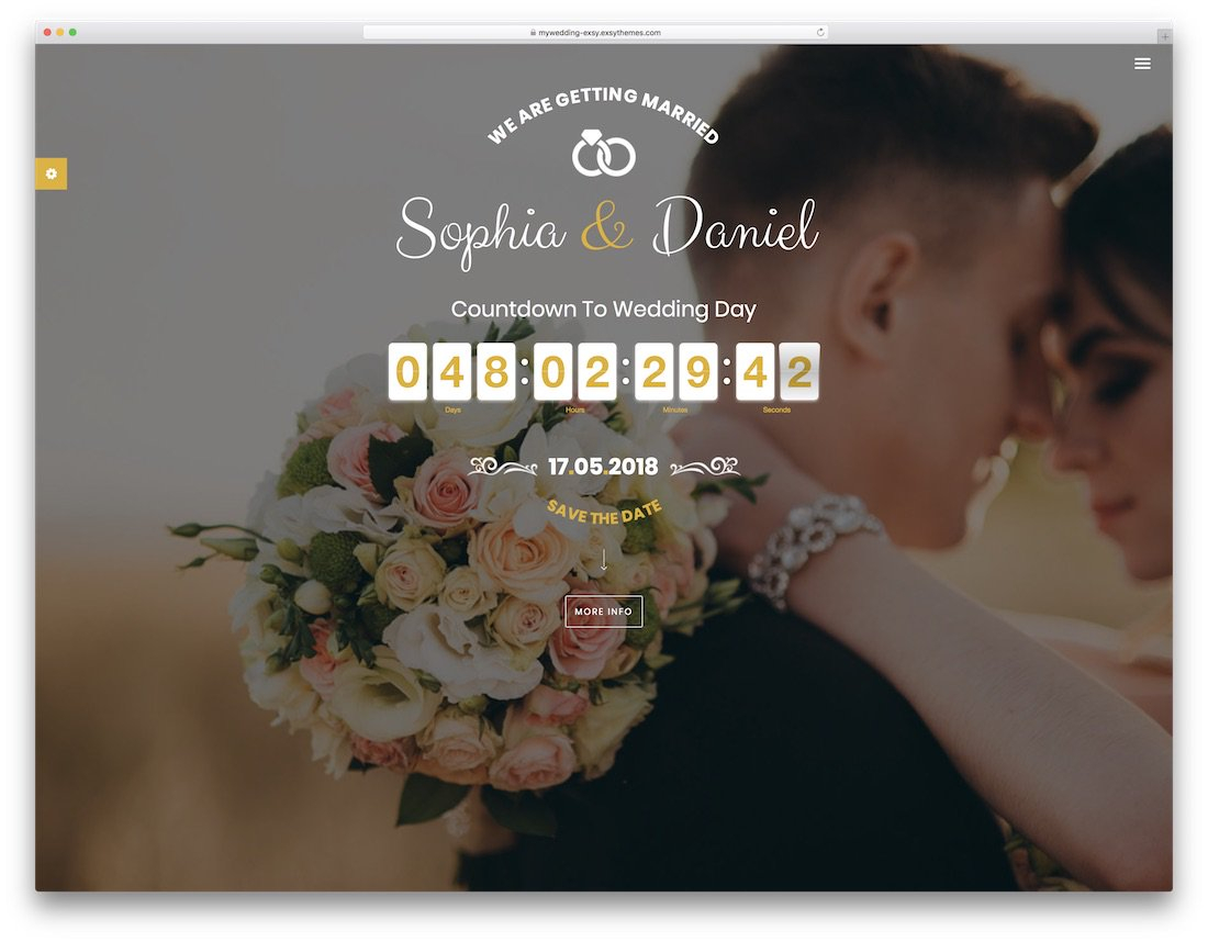 16 Beautiful Html Wedding Website Templates 2019 Colorlib pertaining to measurements 1100 X 858