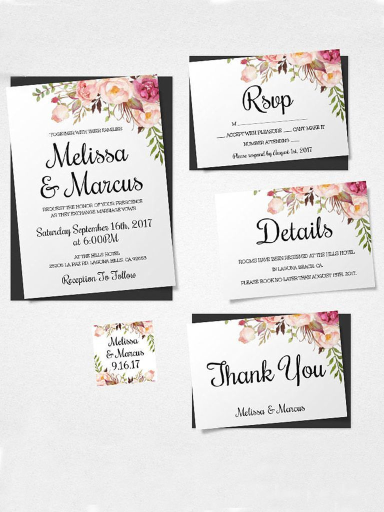 16 Printable Wedding Invitation Templates You Can Diy Diy Details in measurements 768 X 1024