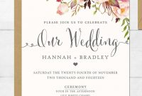 16 Printable Wedding Invitation Templates You Can Diy Wedding with sizing 768 X 1024