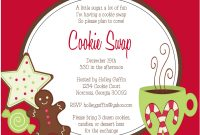 27 Images Of Cookie Swap Party Invitations Free Template Unemeuf pertaining to sizing 1600 X 1236