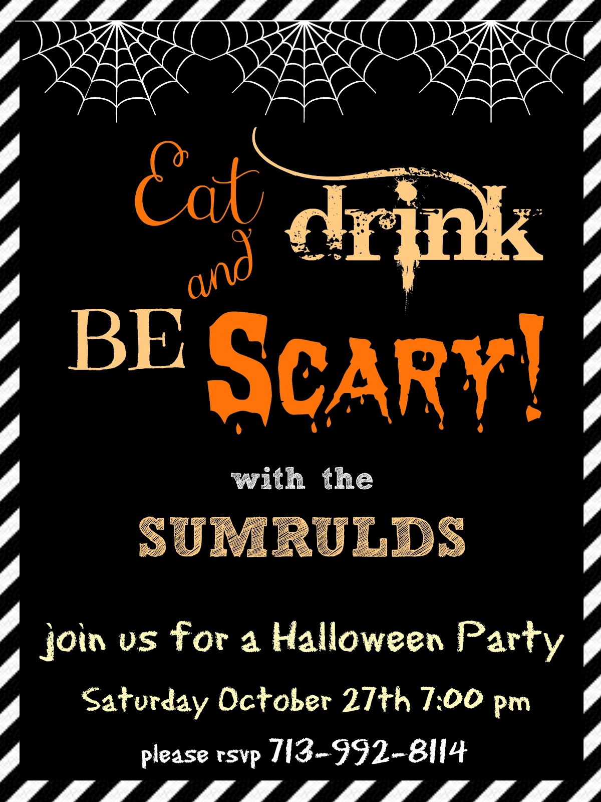 38 Create Your Own Halloween Party Invitation Template Printable For intended for sizing 1200 X 1600