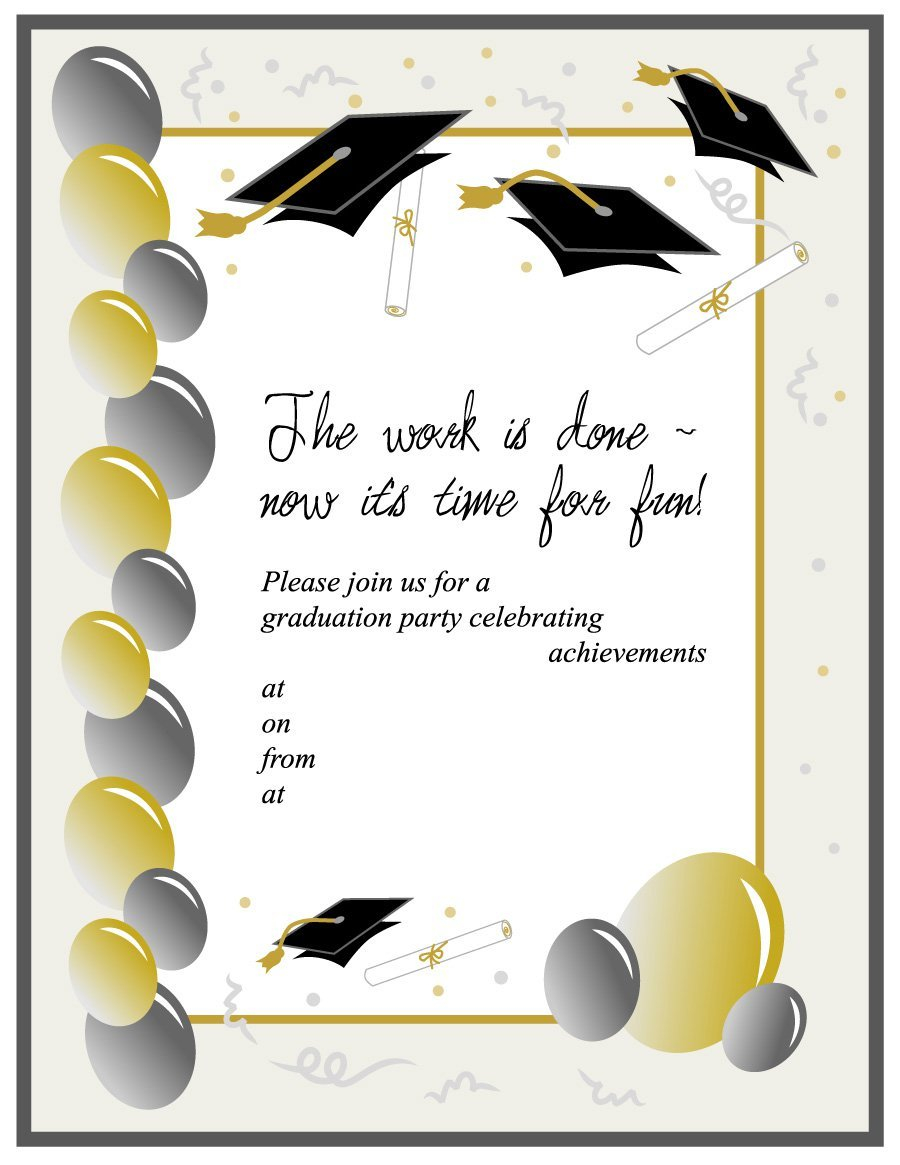 40 Free Graduation Invitation Templates Template Lab for size 900 X 1165