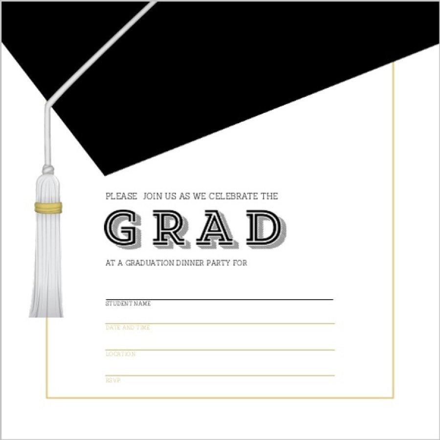 40 Free Graduation Invitation Templates Template Lab with proportions 900 X 900