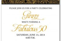 50th Birthday Invitation Templates Free Printable My Birthday In pertaining to dimensions 1071 X 1500