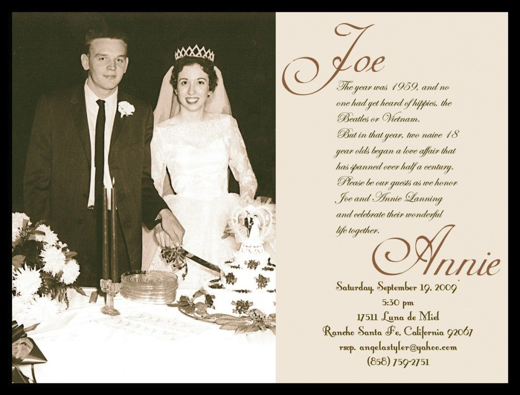 40th Wedding Anniversary Invitation Templates Business