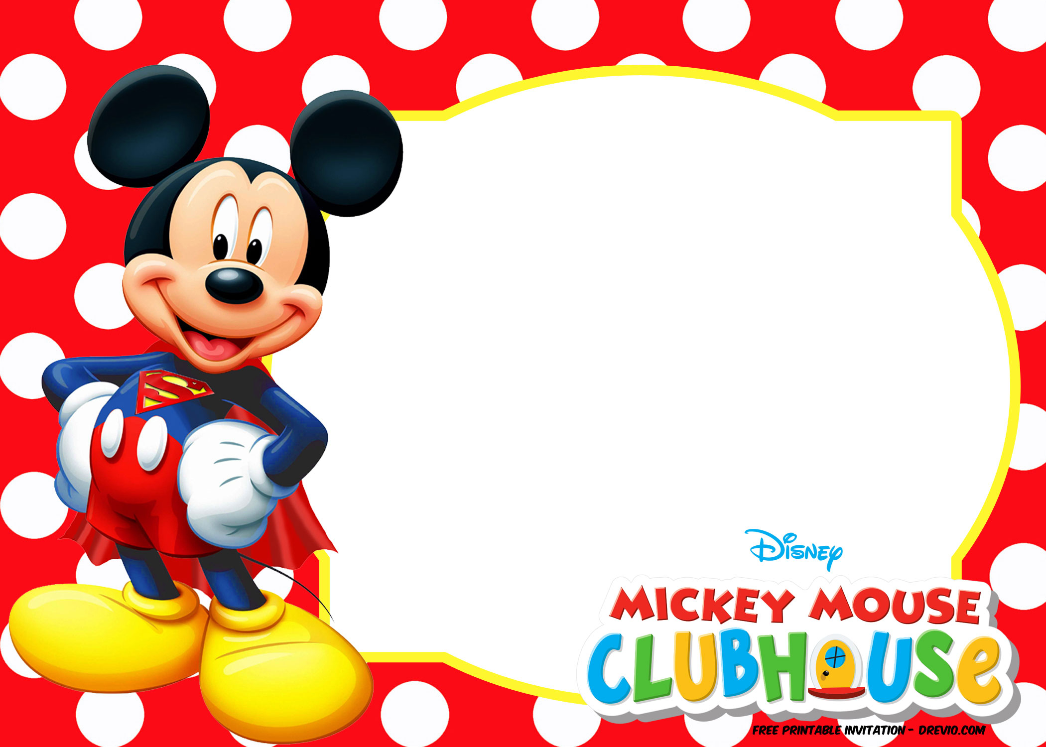 61 Special Mickey Mouse Clubhouse Blank Invitation Template Free within dimensions 2100 X 1500