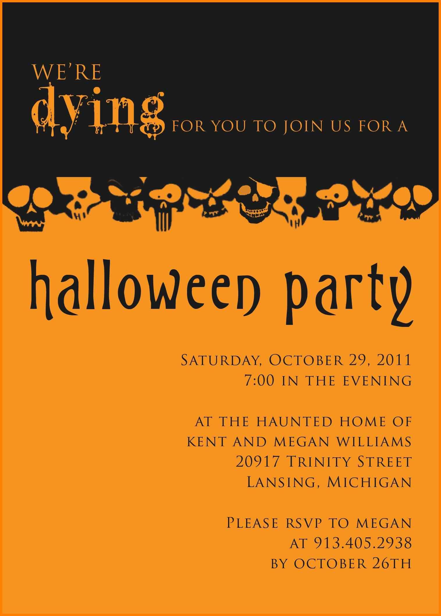 82 Create Custom Halloween Party Invitation Template Design Online inside sizing 1516 X 2116