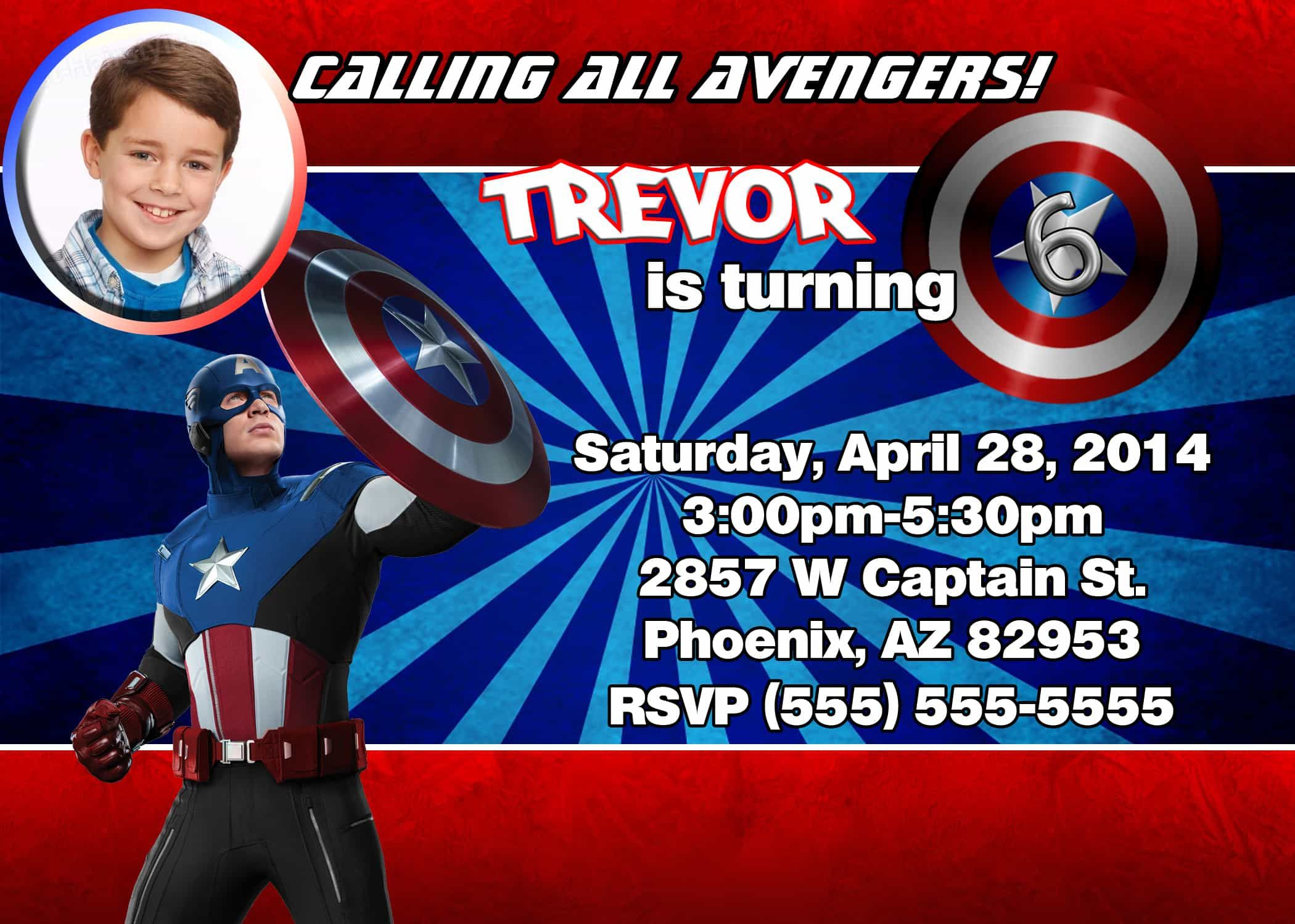 88 Make An Captain America Birthday Invitation Template To Meet with regard to size 2100 X 1500