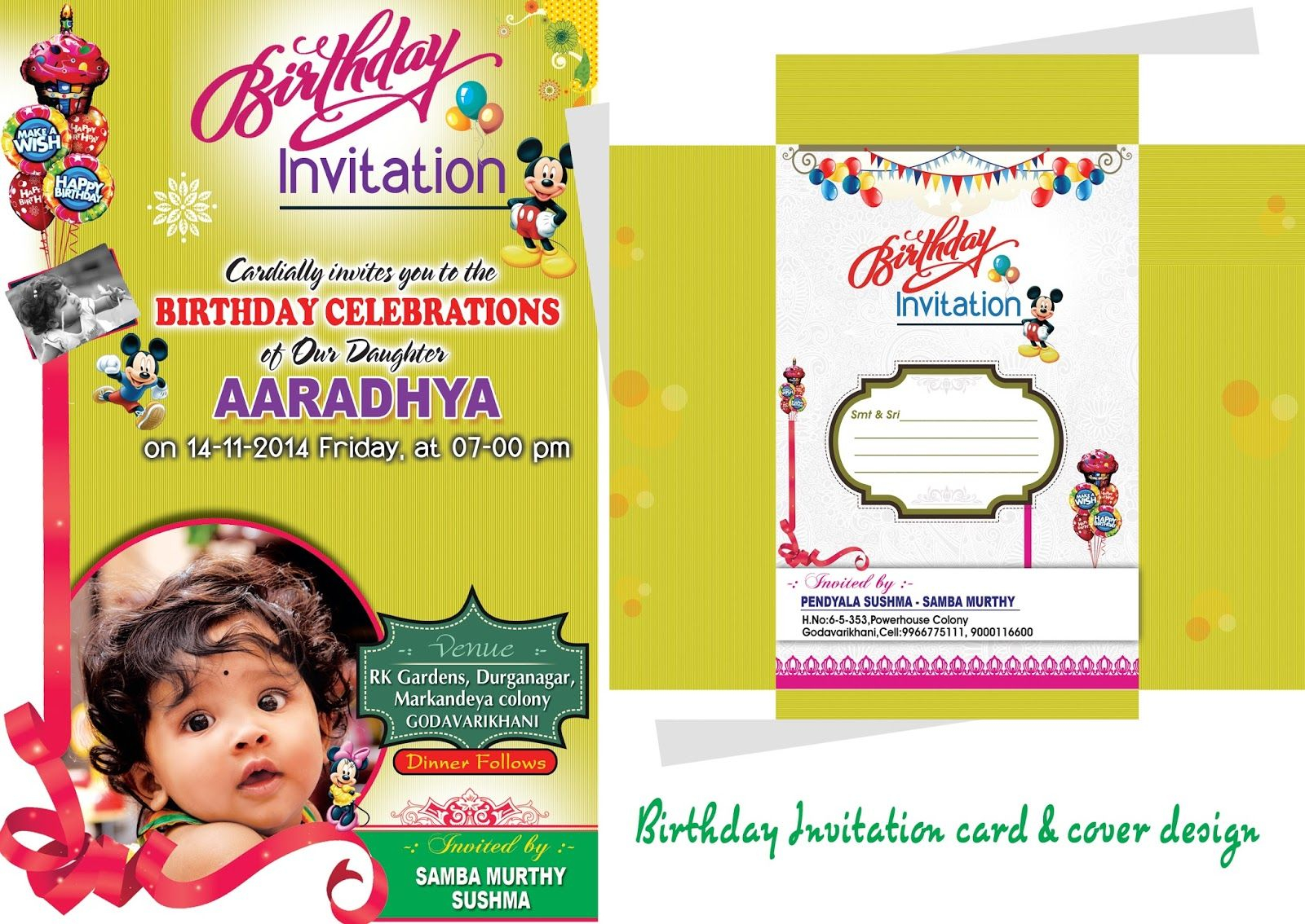 89 Create Amazing Birthday Invitation Card Template Psd Design in size 1600 X 1134