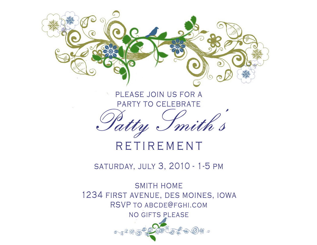 89 Special Retirement Party Invitation Template Ms Word Free with sizing 1294 X 1000