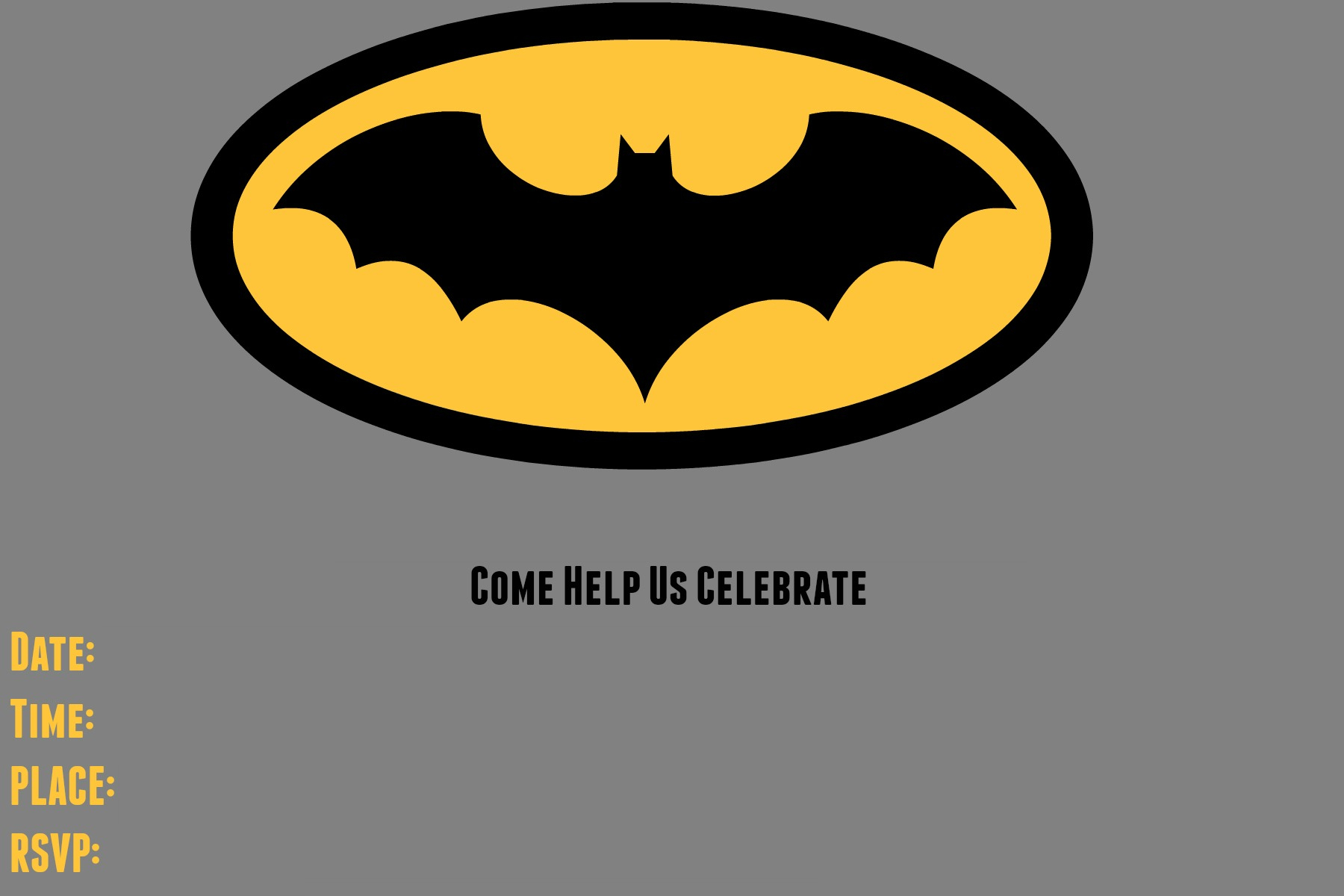 9 Awesome Batman Birthday Invitations Kittybalove throughout size 1800 X 1200