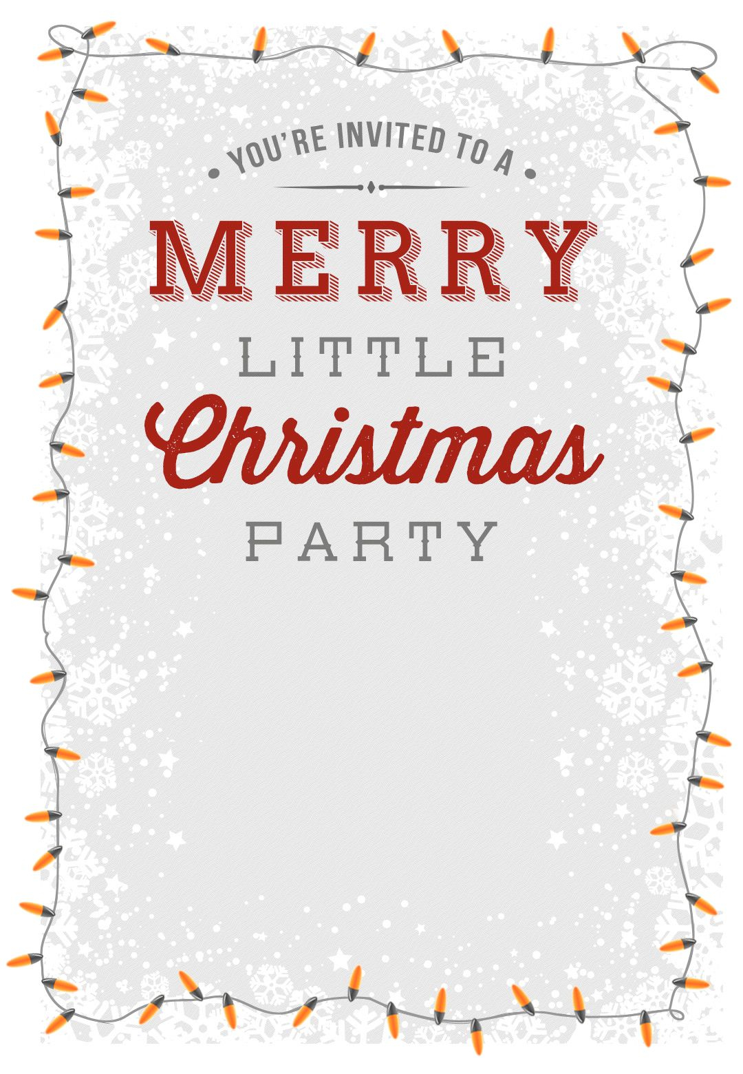 A Merry Little Party Free Printable Christmas Invitation Template for size 1080 X 1560