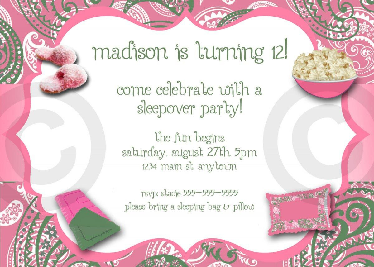 Adult Pajama Party Invitations Pajama Party Slumber Party for dimensions 1200 X 857