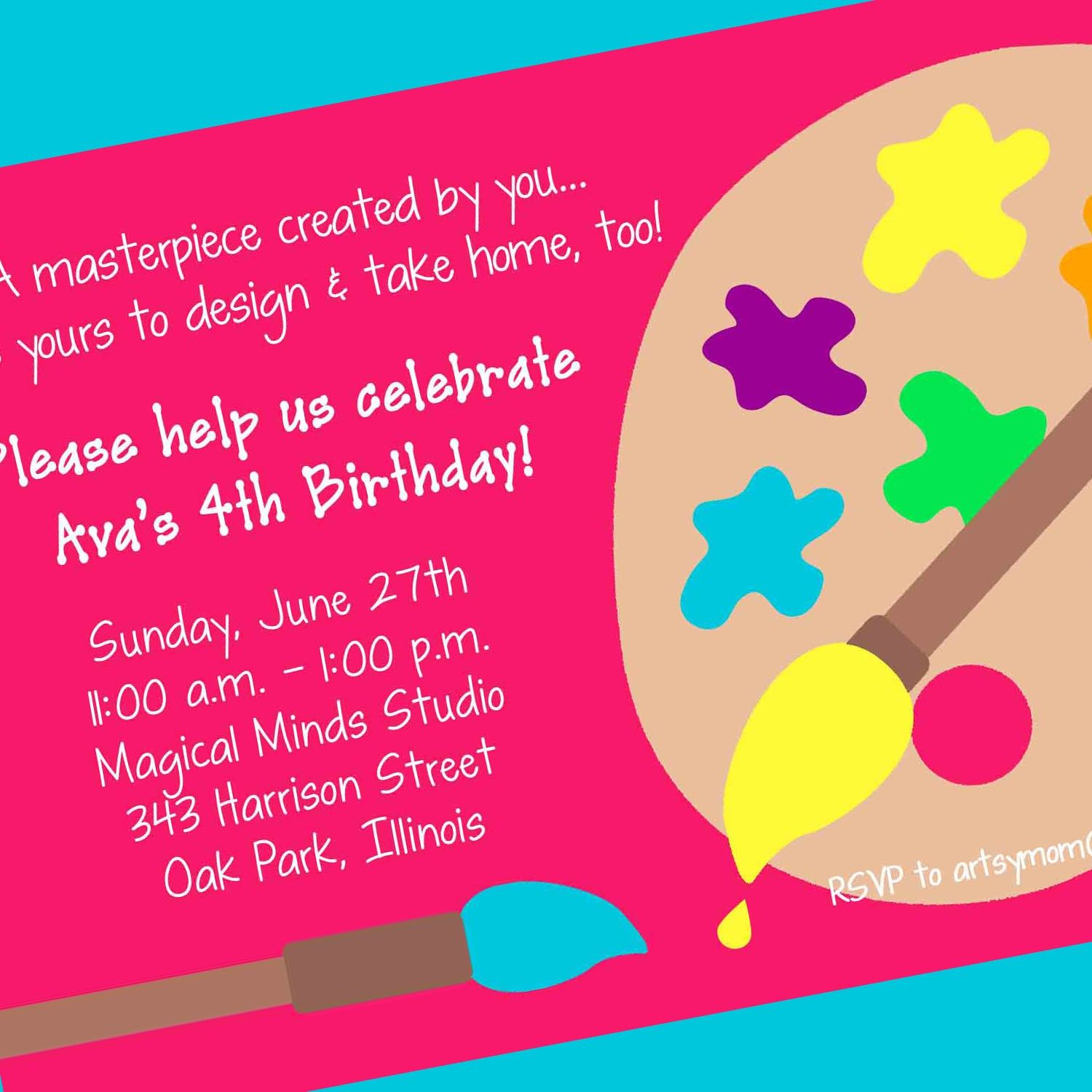Art Party Invitation Art Party Printable Invitation Painting Party pertaining to measurements 1500 X 1500