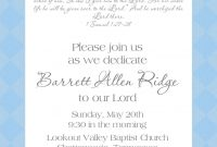 Ba Dedication Invitation Ba Ba Dedication Invitation Ba pertaining to measurements 1071 X 1500
