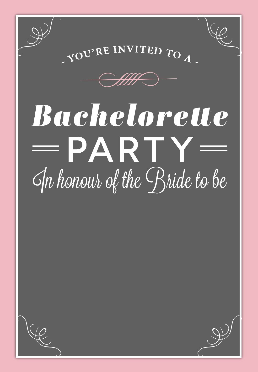 Bachelorette Party Invitation Free Printable Free Bachelorette with regard to size 1080 X 1560