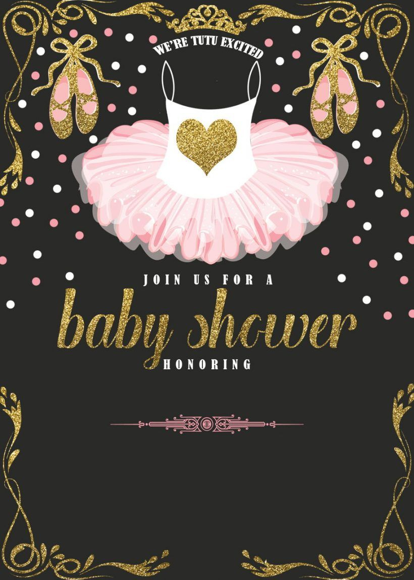 Ballerina Ba Shower Invitation Templates Party Design Ideas In with regard to size 820 X 1148