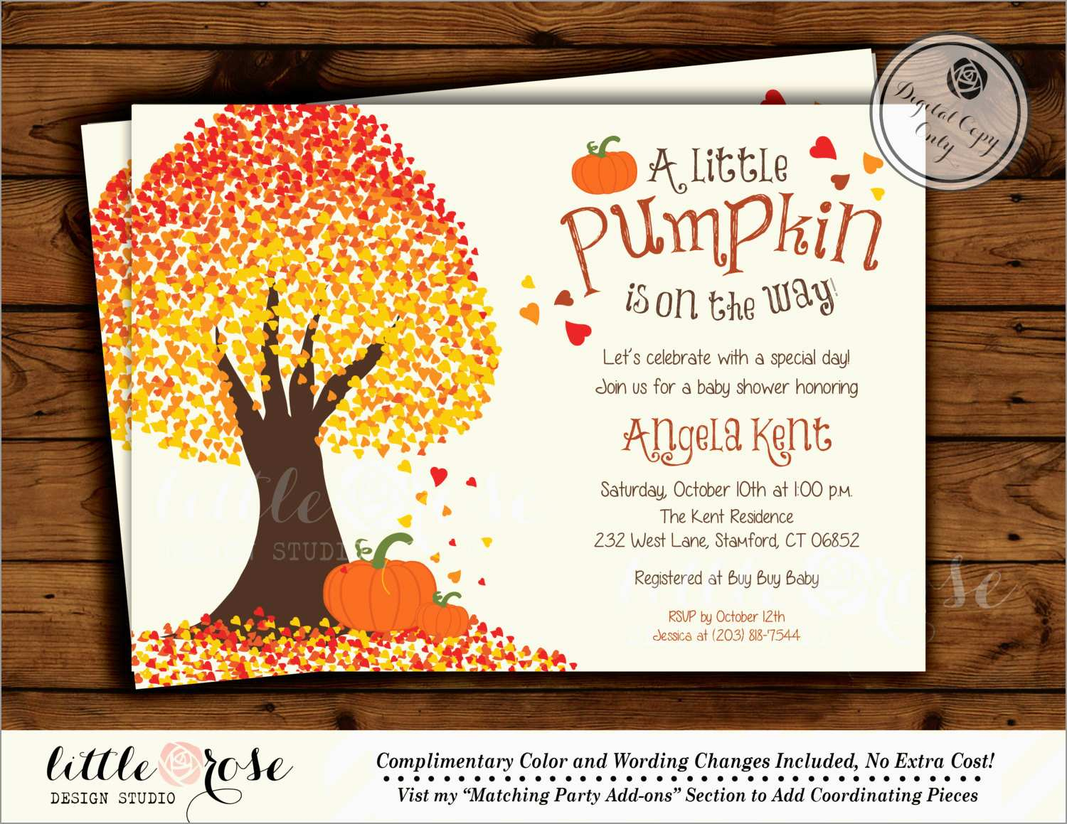 Beautiful Fall Invitation Templates Free Best Of Template for size 1500 X 1159