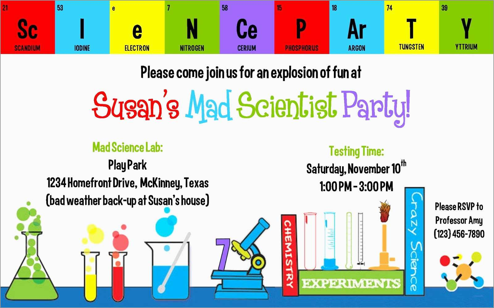 Best Of Free Science Birthday Party Invitation Templates Best Of regarding proportions 1600 X 1000