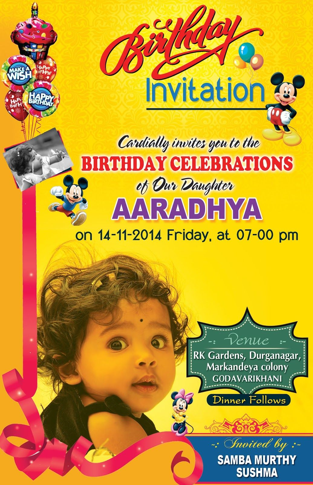 Birthday Invitation Card Psd Template Free Birthday Designs In pertaining to measurements 1035 X 1600