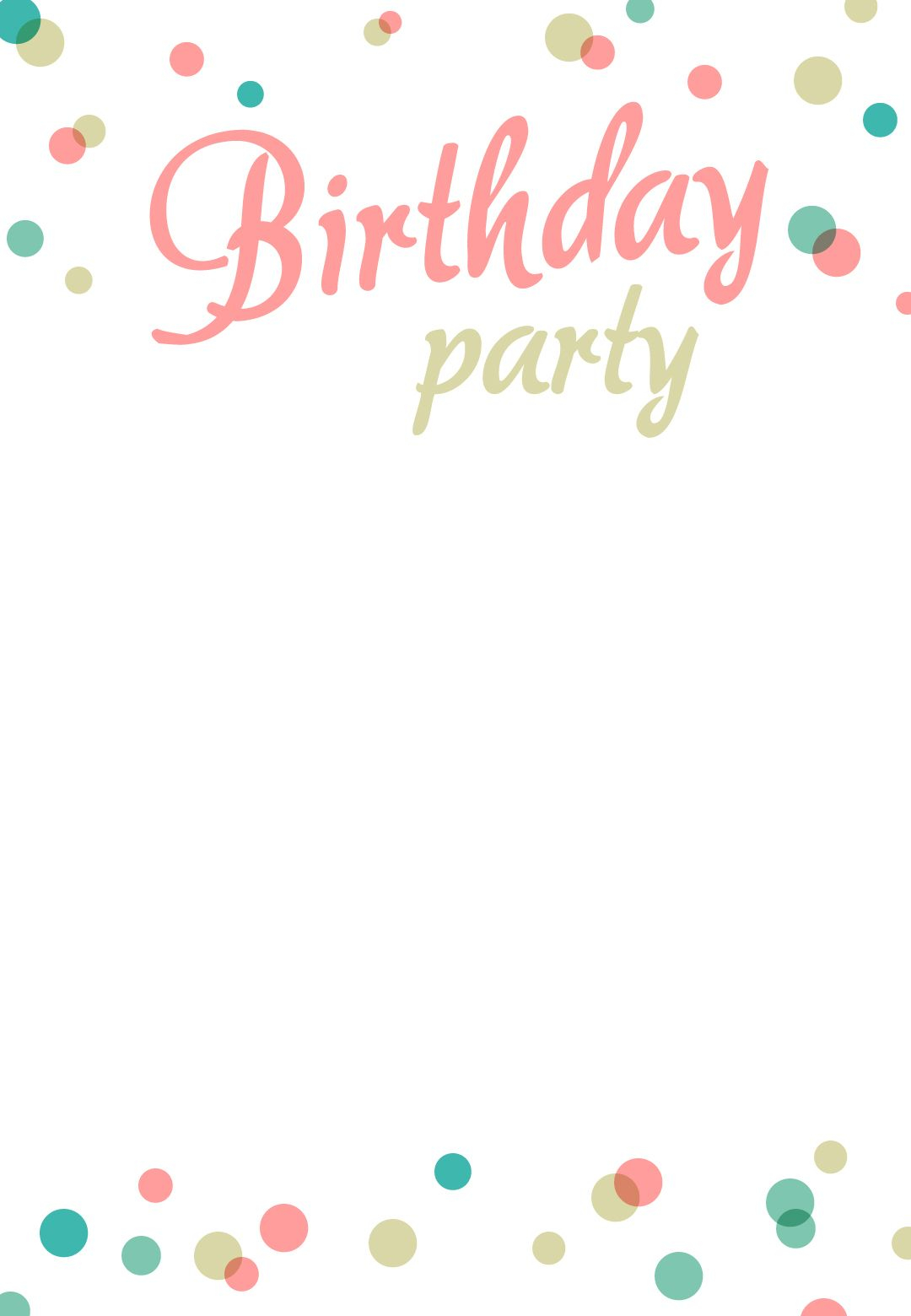 Birthday Party Invitation Free Printable Addisons 1st Birthday inside proportions 1080 X 1560
