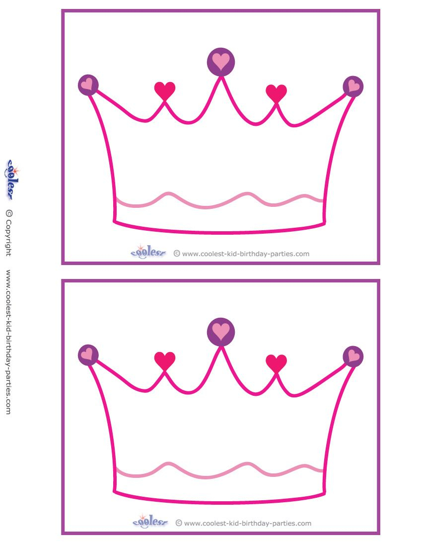 Blank Printable Crown Invitations Coolest Free Printables Birthday within measurements 850 X 1100