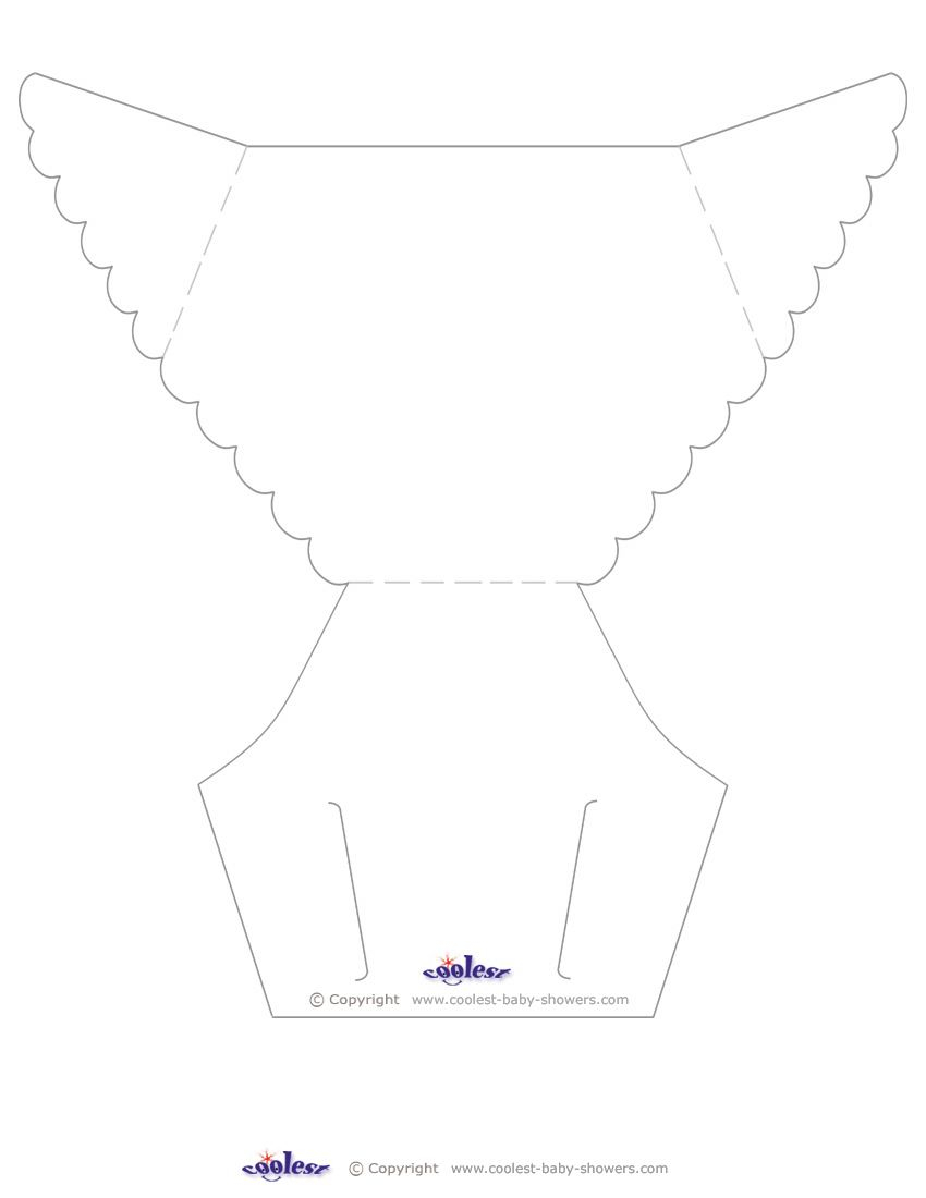 Blank Printable Diaper Invitation Coolest Free Printables Showers intended for dimensions 850 X 1100