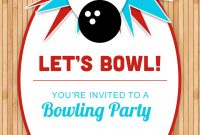 Bowling Party Free Printable Birthday Invitation Template inside proportions 1080 X 1560