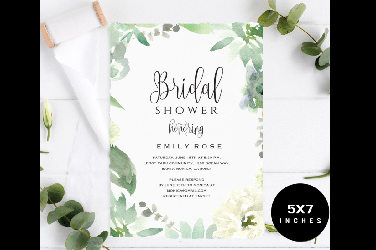 Bridal Shower Invitation Template for dimensions 1200 X 800