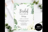 Bridal Shower Invitation Template intended for sizing 1200 X 800