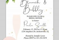 Bridal Shower Printable Invitation Floral Bubbly Invitations with regard to dimensions 900 X 1350