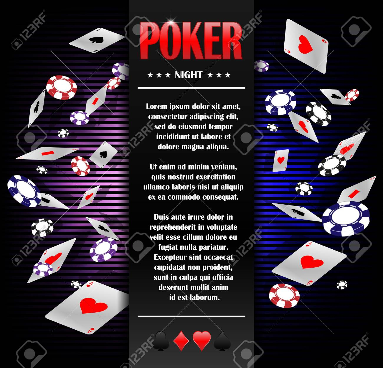 Casino Gambling Poker Background Poster Design Template Poker in sizing 1300 X 1250