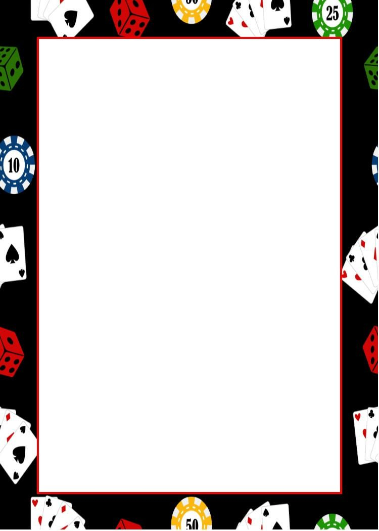 Casino Night Invitation Blank Template Printable Stationery In for proportions 750 X 1050