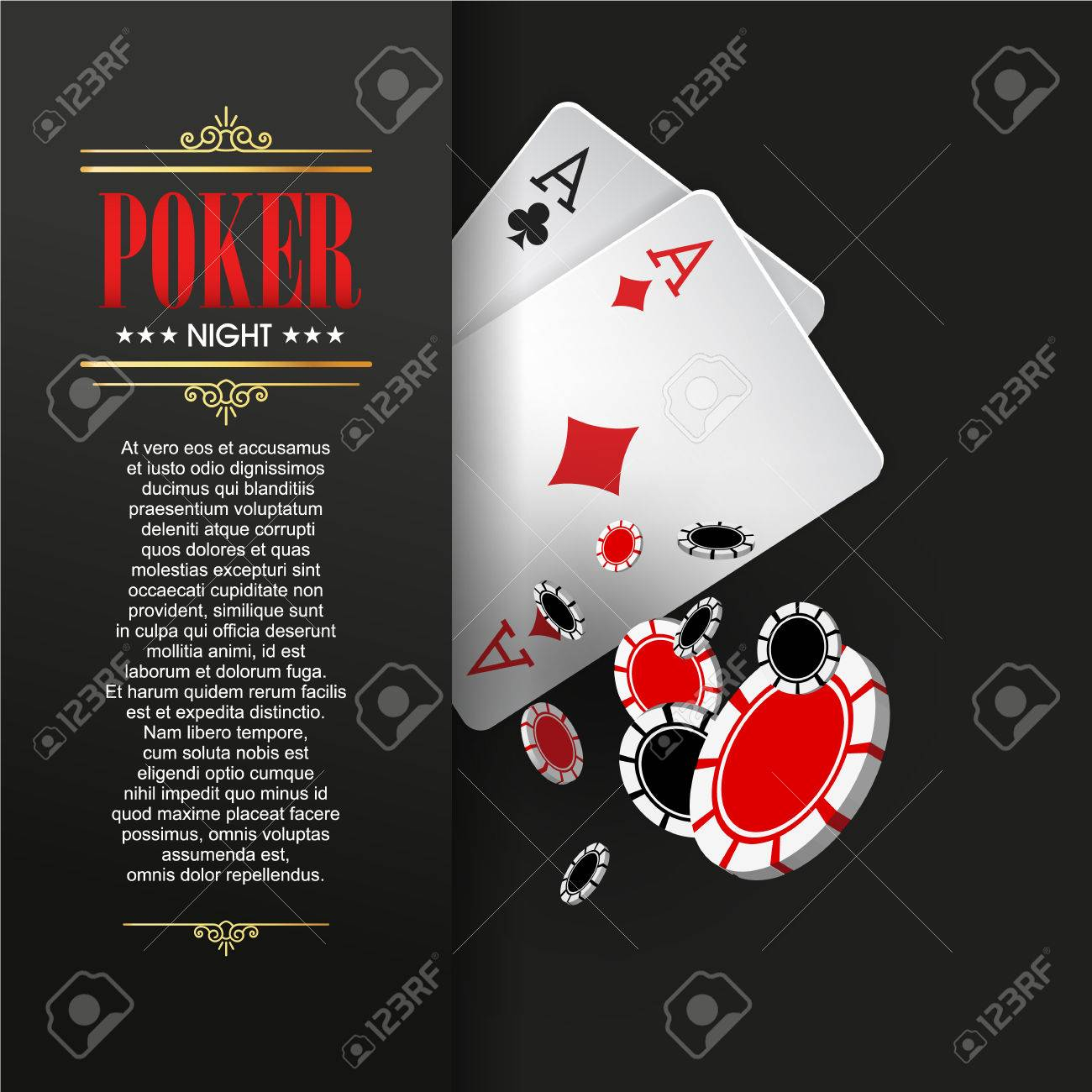 Casino Poster Or Banner Background Or Flyer Template Poker inside dimensions 1300 X 1300