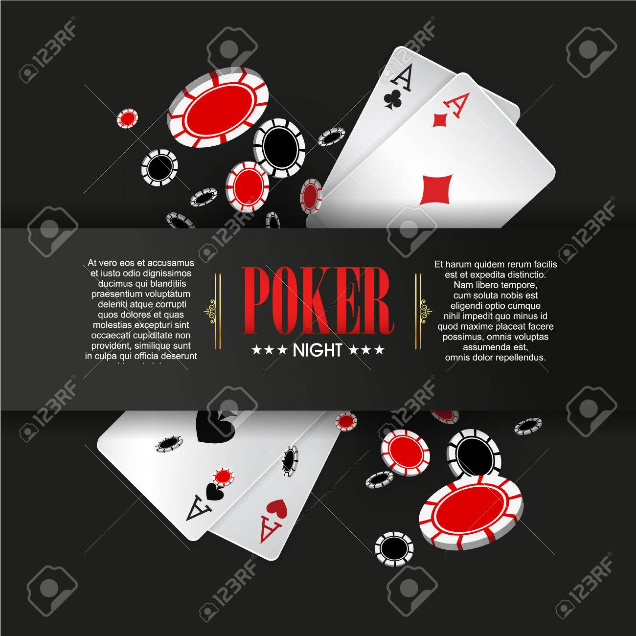 Casino Poster Or Banner Background Or Flyer Template Poker pertaining to proportions 1300 X 1300