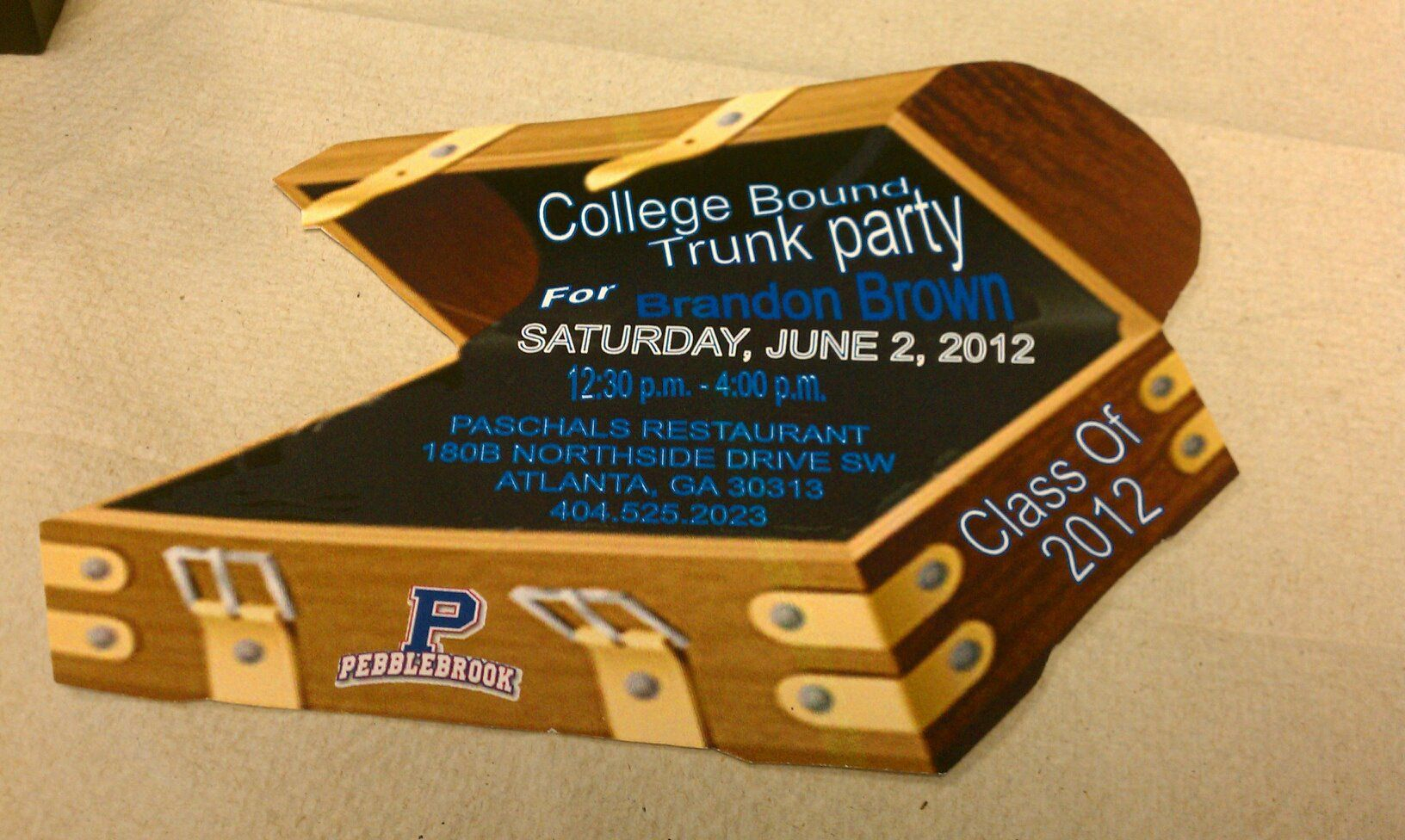 College Bound Trunk Party Invitation Prissypeoplesbellsouth with regard to measurements 1632 X 976